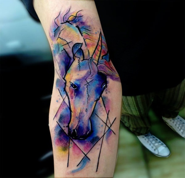 81 unicorn tattoos where magic and mysticism meet. Black Bedroom Furniture Sets. Home Design Ideas