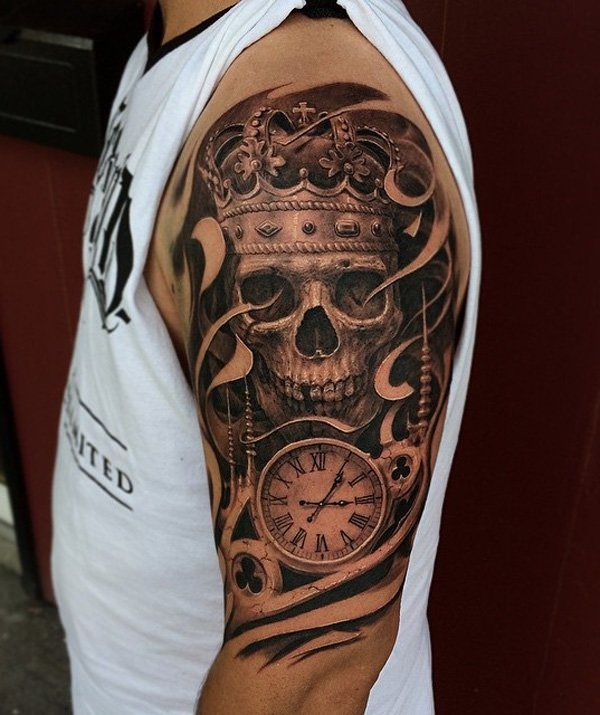 edf872610d33c 63 Skull Tattoos for the Badass In You