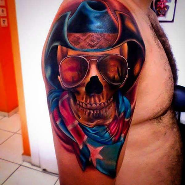 63 skull tattoos for the badass in you for Color skull tattoos