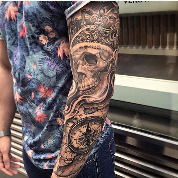 63 skull tattoos for the badass in you. Black Bedroom Furniture Sets. Home Design Ideas