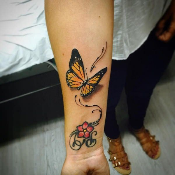 butterfly tattoos helping  undergo